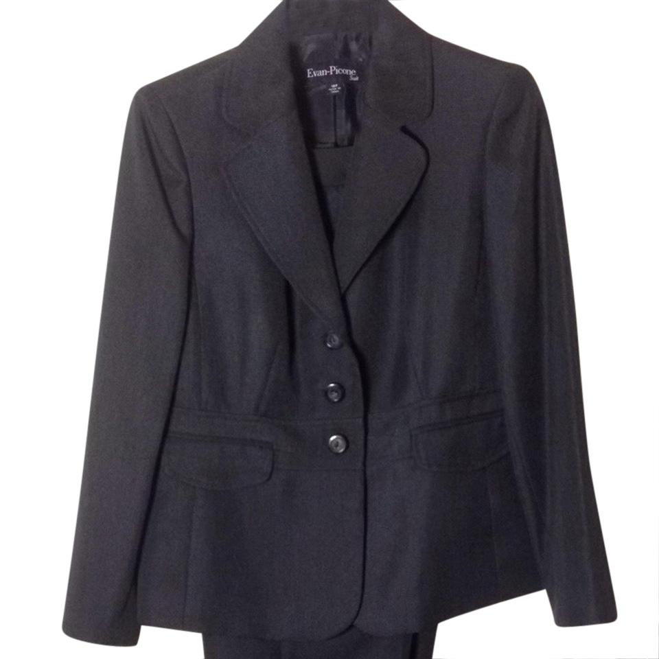Evan Picone Navy Blue With Tags Classy Pant Suit Size Petite 10 M