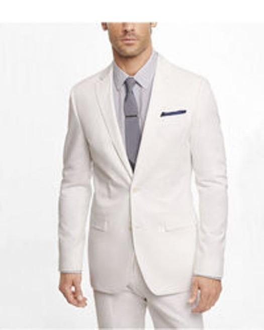 Express Men's Fitted White Photographer Suit Jacket. Size 36 ...