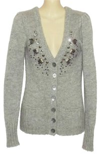 Express Jewelled Silver Sparkle Cardigan