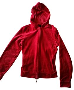 Express Velvet Velour Zip Up Sweatshirt