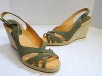 Façonnable Faconnable Sage Suede Green Sandals