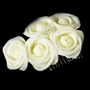 Charming Light Yellow Roses Wedding Bridal Comb