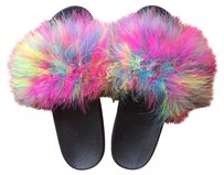 Fanci Fur Slippers Multi color Sandals