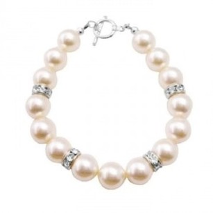 Fashion Jewelry For Everyone Big Pearls Bracelet Ivory Pearls Exclusively Gift Wedding Flower Girl