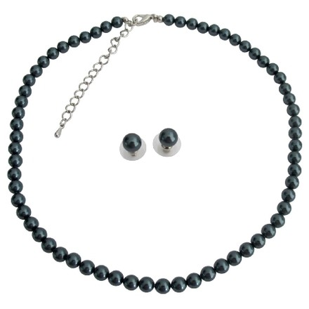 Tahitian Exotic Pearl Necklace Stud Earrings At Low Priced Jewelry Set
