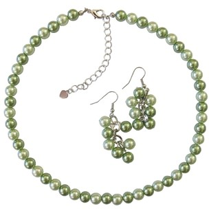 Honeydew & Green Wedding Jewelry Set Affordable Under $10 Jewelry Set