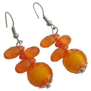 Orange Sale Exclusive Selection Of Little Girls Color Earrings