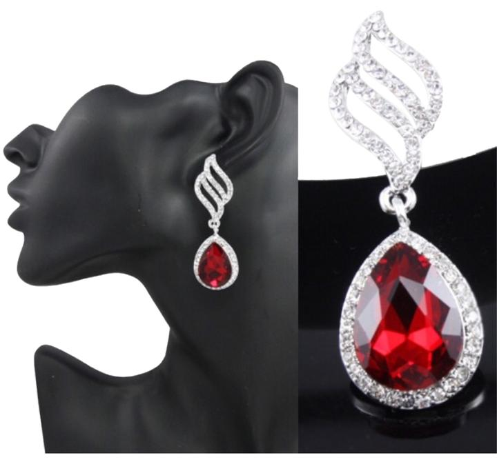 Fashion Jewelry For Everyone Silver/red & Silver/clear ...