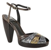 Fendi & Wedges Bronze, Silver, Gold Platforms