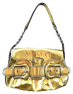 Fendi Metallic Leather Baguette