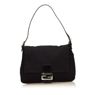 Fendi Black Cotton Fabric Shoulder Bag