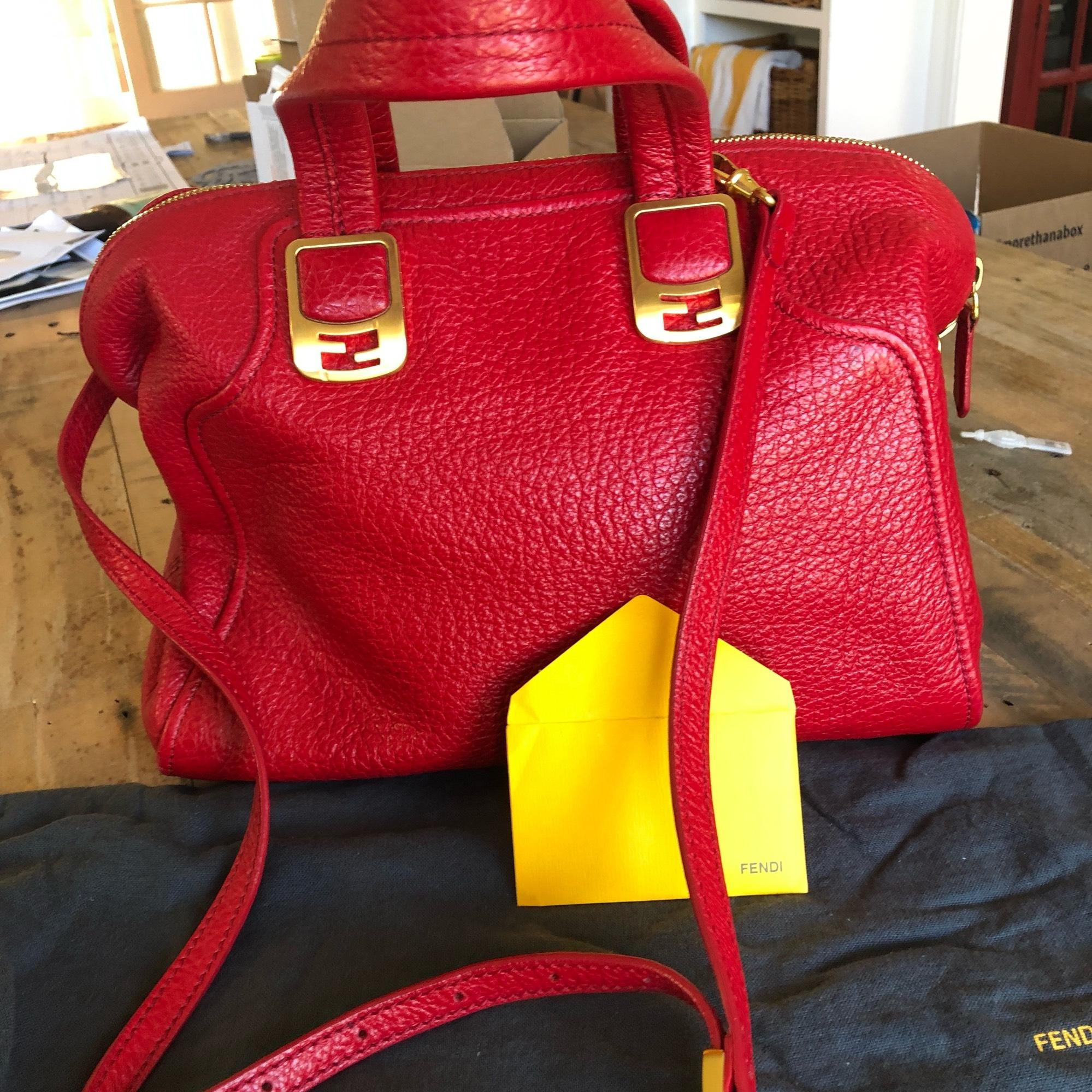 4c830973665 ... discount code for fendi chameleon satchel red pebbled leather cross  body bag tradesy 08741 700a8 ...