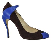 Fendi Womens Brownblue Suede Browns Pumps