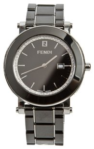 Fendi Fendi Black Ceramic and Stainless Steel Diamond Dial Women's Watch