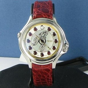 Fendi Fendi F101024573d1t03 Crazy Carats Two Tone Red Blue Green Dial Watch