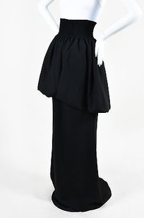 Fendi Virgin Wool Silk Maxi Skirt Black