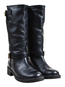 Fendi Grained Leather Black Boots