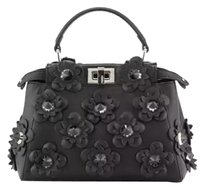 Fendi Peekaboo Medium Satchel in Black