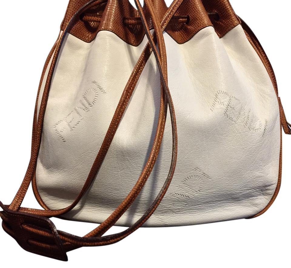 e942745168f1 ... get fendi rare for neiman marcus drawstring bucket handbag white  leather shoulder bag 10290 d6848 ...