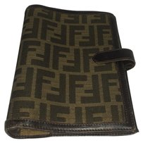 Fendi *REPHOTO* Fendi Agenda Notebook Cover Phonebook Address Book FF Zucca Monogram Logo Case FFAV1