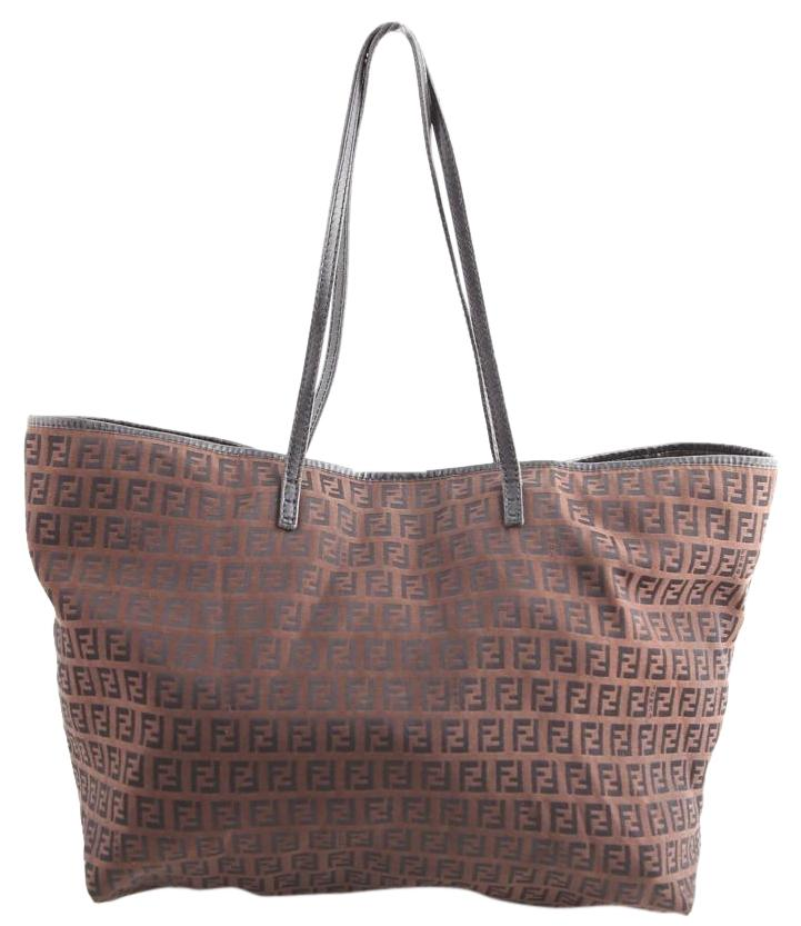 977491deb8 ... get fendi monogram shopper tote in brown 96d19 fdf33