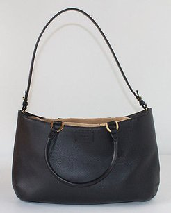 Fendi Vitello Leather C Coulisse Convertible Satchel in Black