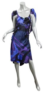 Fendi short dress Multi-Color Womens Purpleblue Print on Tradesy