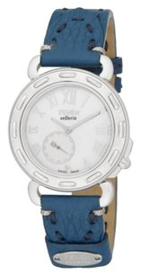 Fendi Fendi Timepieces Selleria Mother-Of-Pearl, Stainless Steel & Leather Strap Chronograph Watch