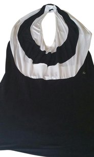 Fendi short dress Black & White Top Blouse Italy Cotton on Tradesy