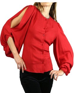 Fendi Button Down Top Red