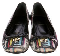 Fendi Zucca Monogram Gold Hardware Ballerina Graffiti Black, Blue, Multicolor Flats