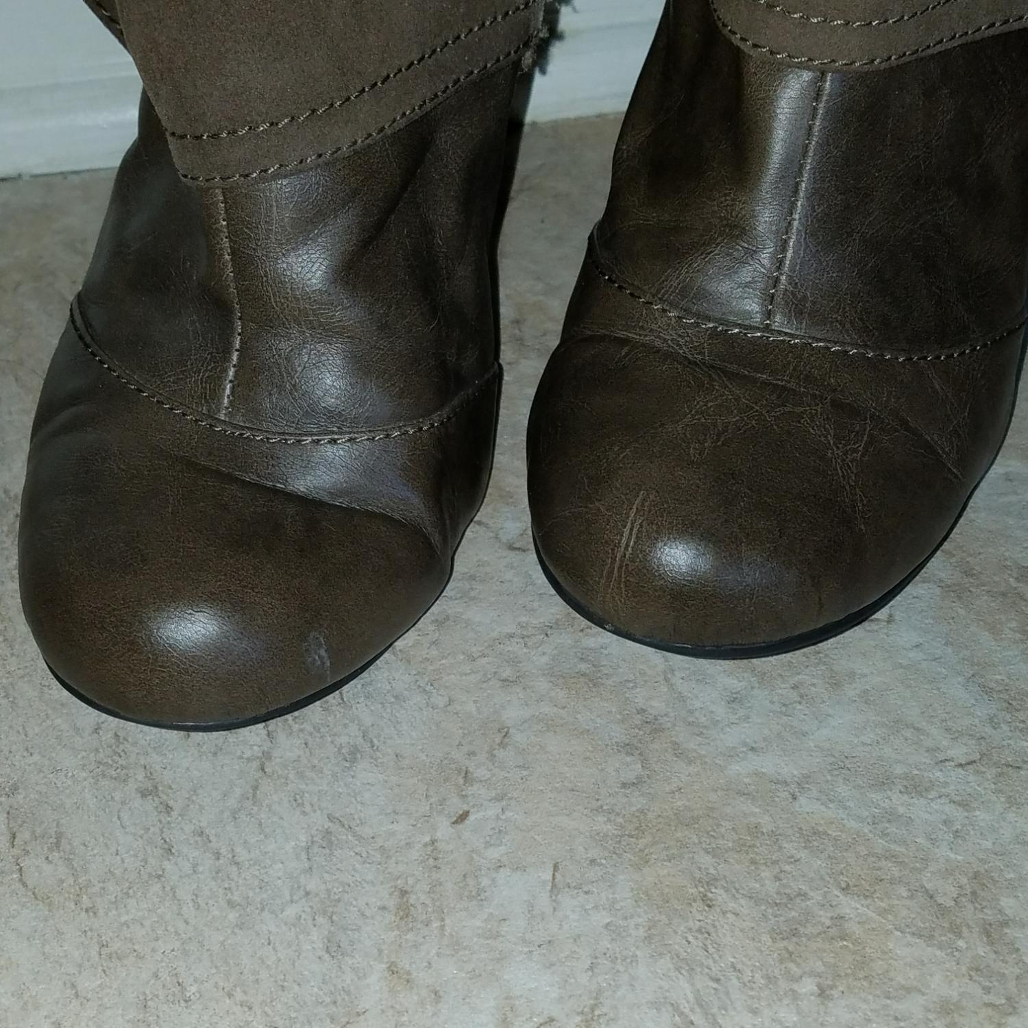 fergalicious by fergie brown womens cassidy boots booties