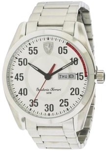 Ferrari Ferrari Scuderia Watch Stainless Steel Silver Band Mens 0830178 Analog