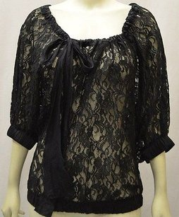 Fifteen Twenty Black Sheer Top Blacks