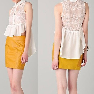 Finders Keepers Just Dance Lace Var Top White