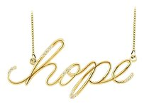 Fine Jewelry Vault Hope Necklace with Diamonds in Yellow Gold 0.15 CT TDW