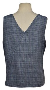FLAX Womens Plaid Top Blue