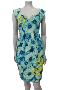 Floreat Knotted Poppies Yellow Sequin Anthropologie 0 Dress
