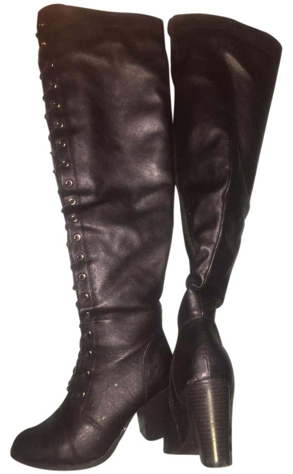 Forever 21 Black Sexy Boots/Booties (M, Size US 6 Regular (M, Boots/Booties B) 39b75c