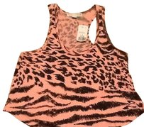 Forever 21 Top Pink Animal Print