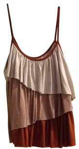 Forever 21 Top Light Brown/Dark Orange