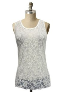 Forever 21 Lace See Top Ivory