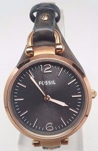 Fossil Fossil Georgia Leather Strap Ladies Watch Es3077