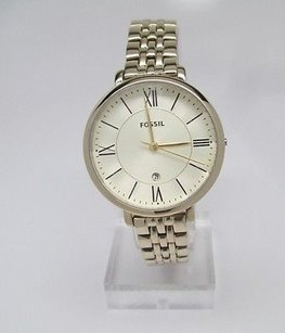 Fossil Fossil Jacqueline Gold-tone Ladies Watch Es3434 Missing Crown