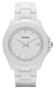 Fossil Fossil Men's Retro Traveler White Stainless-Steel Quartz Watch with White Dial