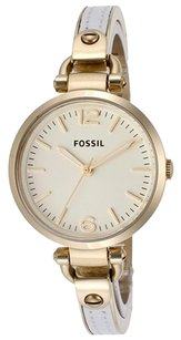 Fossil Fossil Women's Georgia Two-Tone Stainless-Steel Analog Quartz Watch with Gold Dial