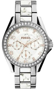 Fossil Fossil Women's Riley Crystal Accented Two-Tone Stainless Steel ES3973