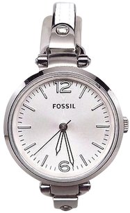 Fossil Fossil Womens Es3259 Georgia White Stainless Steelleather Watch