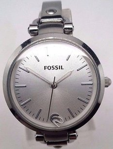 Fossil Fossil Womens Georgia Es3083 White Stainless-steel Quartz Watch