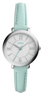 Fossil New! Fossil Women's Jacqueline Green Leather Strap Watch 26mm es3936